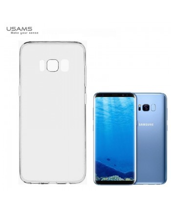 Usams Primary IP7YS02 Ultra Thin Silicone Back Case for Samsung G955 Galaxy S8 Plus / S8+ Transparent Black