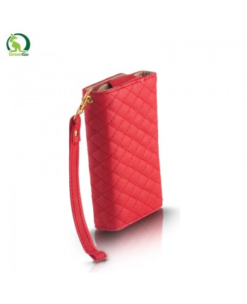 GreenGo Universal (9x16cm) Pik series wallet case for mobile devices with strap Red