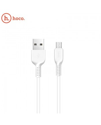 Hoco X20 Ultra Durable-Soft Universal Micro USB to USB Data & Fast 2.4A Charger Cable 1m White