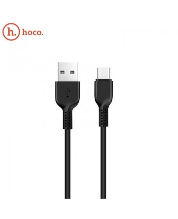Hoco X20 Ultra Durable Type-C to USB Data & Fast 2.4A Charger Cable 3m Black