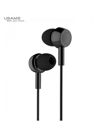 Usams EP-12 Plating Universal In-Ear Music and Calls Headset 3.5mm with Microphone and Remote Black