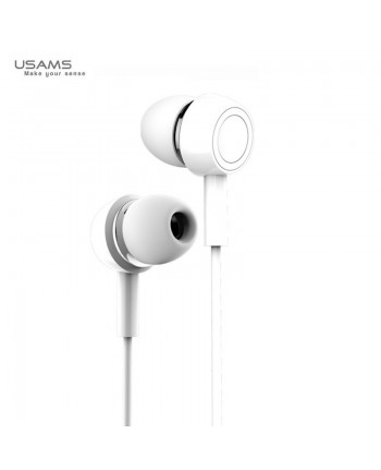 Usams EP-12 Plating Universal In-Ear Music and Calls Headset 3.5mm with Microphone and Remote White