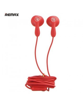 Remax RM-301 Candy Strong Bass & Classic Comfort Ear Fit 3.5mm Headset with 1.2m Cable Mic Red