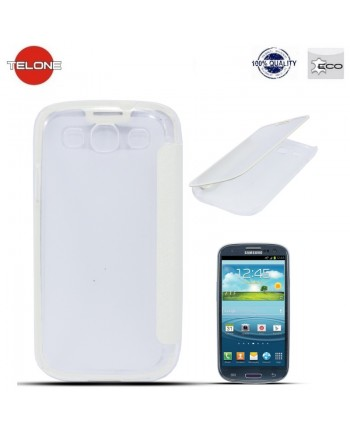 Telone Smart View&Touch Book Case Samsung i9500 Galaxy S4 White