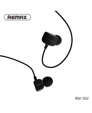 Remax RM-502 New Comfort Shape In-Ear 3.5mm Headset with 1.2m Cable Mic / Answer call Black