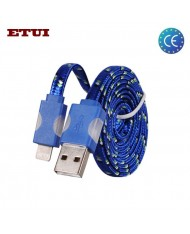 Etui Super Flat Wired 1m Led Flashing Light Cable Apple iPhone 5 5S 6 6S 6 Plus 6S Plus (Analog MD818) Blue