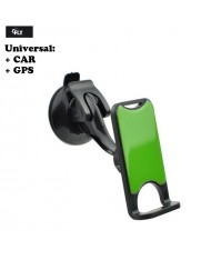 FLY 2273W Universal Car Holder with 360 degree rotate and gel layer Black