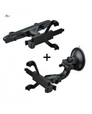 """Art Ax-01 Universal 7"""" - 10.1"""" Tab PC Car Holder 2in1 Fixation Window and Headrest Mountings"""