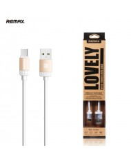 Remax Lovely Universal Micro USB Data & Charging Cable with Metal Connectors 1m Gold