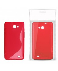KLT Back Case S-Line Sony Xperia J ST26i silicone/plastic case Red