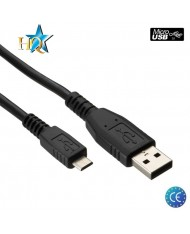 HQ Universal Micro USB Data / Charger Cable 1.2m Black (EU Blister)