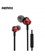 Remax RM-610D Flat Cable Stereo 3.5mm In-Ear Headset with mic/volume remote (iOS/Android) Red