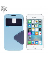 Roar Fancy Diary S-View Book Case with window and stand Apple iPhone 5 5S Light Blue/Blue (EU Blister)