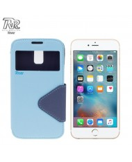 """Roar Fancy Diary S-View Book Case with window and stand Apple iPhone 6 6S 4.7"""" Light Blue/Blue (EU Blister)"""