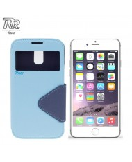 """Roar Fancy Diary S-View Book Case with window and stand Apple iPhone 6 Plus 6S Plus 5.5"""" Light Blue/Blue (EU Blister)"""