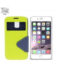 """Roar Fancy Diary S-View Book Case with window and stand Apple iPhone 6 Plus 6S Plus 5.5"""" Light Green/Blue (EU Blister)"""
