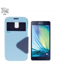 Roar Fancy Diary S-View Book Case with window and stand Samsung A500F Galaxy A5 Light Blue/Blue (EU Blister)