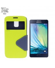 Roar Fancy Diary S-View Book Case with window and stand Samsung A500F Galaxy A5 Light Green/Blue (EU Blister)