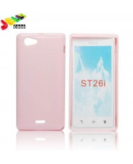 Forcell Jelly Back Case Sony ST26i Xperia J silicone case Pink