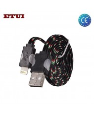 Etui Super Flat Wired 1m Led Flashing Light Cable Apple iPhone 5 5S 6 6S 6 Plus 6S Plus (Analog MD818) Black
