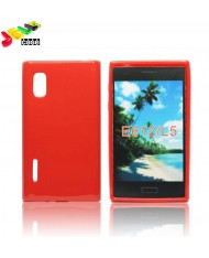 Forcell Jelly Back Case LG Optimus L5 E610 silicone case Red