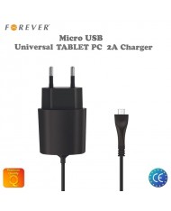 Forever 2.1A Micro USB Universal Travel Charger for Tablet PC / Phone with 1.2m Cable Euro CE (EU Blister)