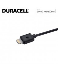 Duracell Mfi Cerified USB to Lightning 8pin Data Sync & Charger Cable 1m (MD818)