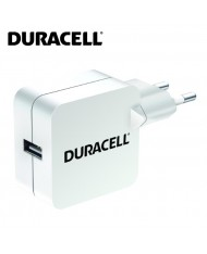Duracell Universal 2.4A Single USB Plug Mains Charger for Smartphone / Tablet PC White