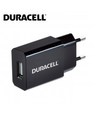 Duracell Universal 1A Single USB Plug Mains Charger for Smartphone / Mobile Device Black