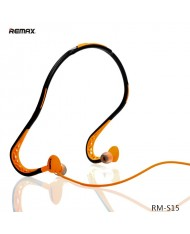 Remax RM-S15 Active Sport Neckband Wired Stereo Headset with Mic/Remote Black/Orange