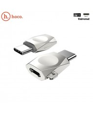 Hoco UA8 Type-C charger and data adapter from Micro USB Femate to Type-C Mate Metal Silver