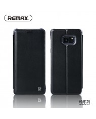 Remax Pure Eco Leather Super Thin Book Case with Stand for Samsung N930F Galaxy Note 7 Black