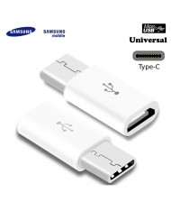 Samsung GH98-40218A Universal Type-C Male to Micro USB Female Cable Adapter White (OEM)