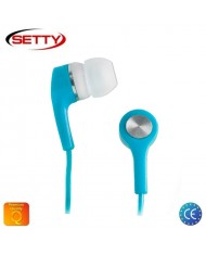 Setty Universal X-Bass 3.5mm In-Ear Earphones for Mp3/Mp4 Music no Microphone Blue