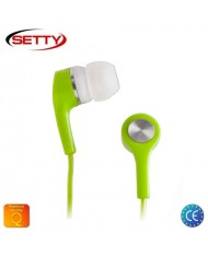 Setty Universal X-Bass 3.5mm In-Ear Earphones for Mp3/Mp4 Music no Microphone Green