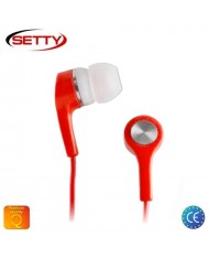 Setty Universal X-Bass 3.5mm In-Ear Earphones for Mp3/Mp4 Music no Microphone Red