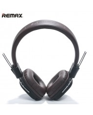 Remax RM-100H Hi-End Audio Class 40mm Headphones with 1.3m detach Wired Cable with Mic Brown