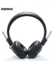 Remax RM-100H Hi-End Audio Class 40mm Headphones with 1.3m detach  Wired Cable with Mic Black