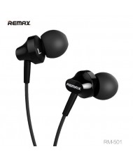 Remax RM-501 Base-D Comfort Fit Stereo 3.5mm In-Ear Headset with mic/remote 1.2m Cable Black