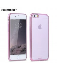 Remax Light Wing Ultra Thin Transparent Silicone Back Cover Rose Gold frame Apple iPhone 6 6S (4.7inch)