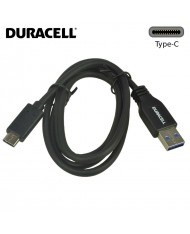 Duracell Universal USB 3.0 Type-A to Type-C Data & Charger Cable 1m Black