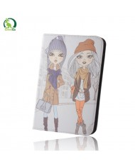 "GreenGo Universal 7-8"" Tablet PC Eco Leather Book Case with Stand Girls"