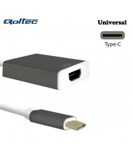 Qoltec 50427 USB Type-C 3.1 Port Adapter to HDMI AF Cable 20cm White