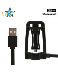 HQ Universal 2in1 Smart Lightning Cable 1.2m - Foldable Stand Apple Smartphone or Tablet PC Black (OEM)