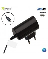Reverse RTC-1-T Universal 1A Type-C 1A Cable 1.2m Travel Charger (Euro CE) Black