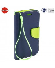 Telone Fancy Diary Bookstand Case Huawei Ascend G8 Blue/Light Green