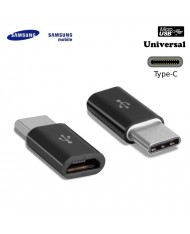 Samsung GH98-40218A Universal Type-C Male to Micro USB Female Cable Adapter Black (OEM)