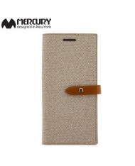 Mercury Milano design fabric ultra thin book case for Samsung G955 Galaxy S8 Plus / S8+ Beige