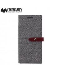 Mercury Milano design fabric ultra thin book case for Samsung G955 Galaxy S8 Plus / S8+ Grey