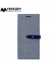 Mercury Milano design fabric ultra thin book case for Samsung G955 Galaxy S8 Plus / S8+ Blue